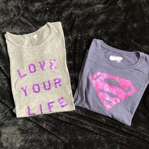 2   OLD NAVY Girls Shirts  LS & 3/4 Sleeve 14